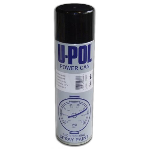U-pol Powercan - Satin Black - 500ml
