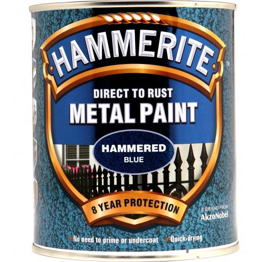 Hammered Finish - Direct To Rust Metal Paint - Blue
