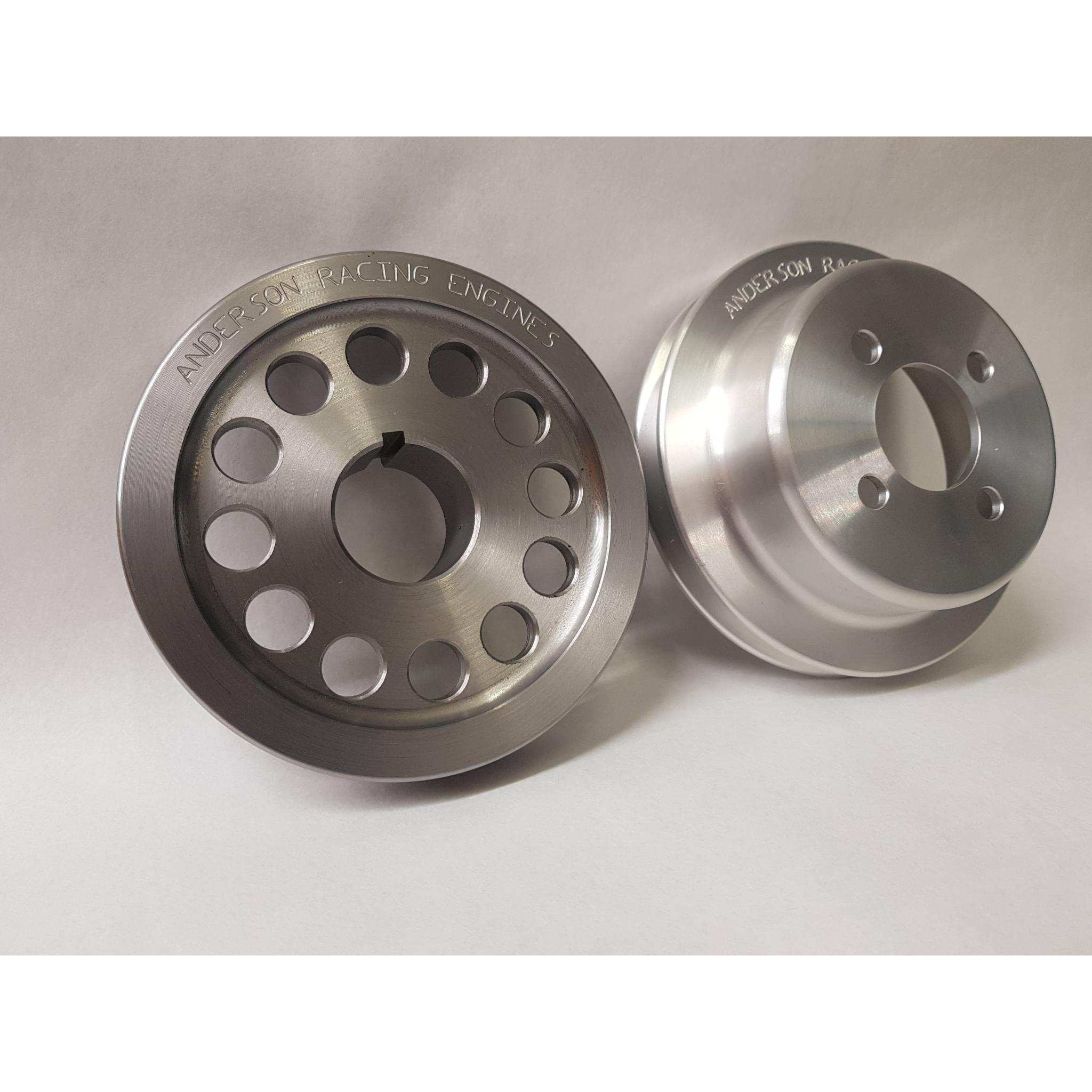 FORD PINTO ALLOY WATER PUMP AND STEEL CRANK PULLEY