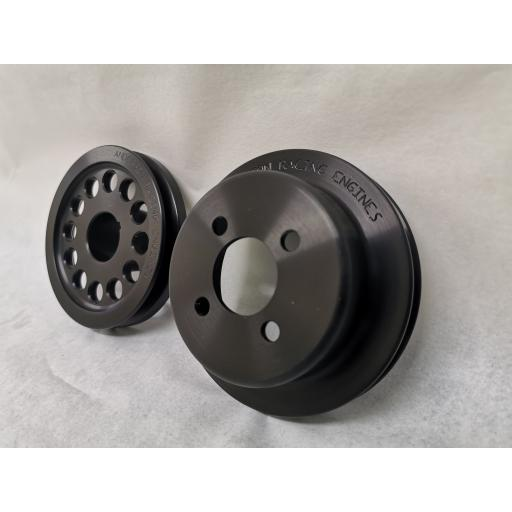 FORD PINTO - Alloy Pulley KIT (BLACK)