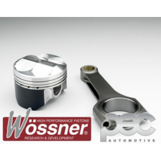 Vauxhall C20XE 2.0 16v High Comp (3 Ring) Wossner Forged Pistons & PEC Steel Connecting Rod Kit
