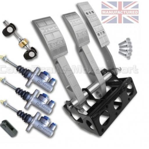 FORWARD FACING UNIVERSAL FLOOR MOUNTED HYDRAULIC PEDAL BOX KIT – PREMIER 3-PEDAL AP CYLINDERS [STD KIT]